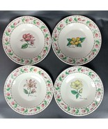 4 NEW Botanical Gardens TABLETOPS UNLIMITED Flat Rimmed Soup / Cereal Bo... - $29.69
