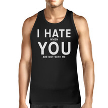 I Hate You Men's Cotton Tank Top Funny Graphic Typography - $14.99