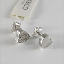 EARRINGS SILVER 925 JACK&CO WITH HEART LOVE WITH ZIRCON CUBIC JCE0454 image 3