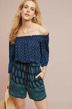 New Anthropologie Kaleo Off-The-Shoulder Romper by ett:twa $128 SMALL  - $43.56