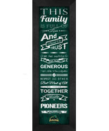 "College Point Park ""Pioneers"" - 24 x 8 Family Cheer Framed Print - $39.95"