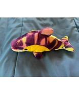 "2009 Rinco Small 7"" Dolphin Plush Green/Yellow/Purple *NEW* gg1 - $7.99"