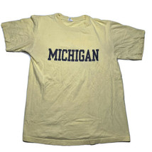 Vintage 90s Cotton Exchange Mens Large Michigan Wolverines Spellout T Sh... - £21.54 GBP