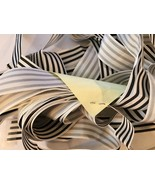 Black White Candy Stripde Grosgrain Ribbon 15 Yards Hair Bows Wedding Trim - $24.99