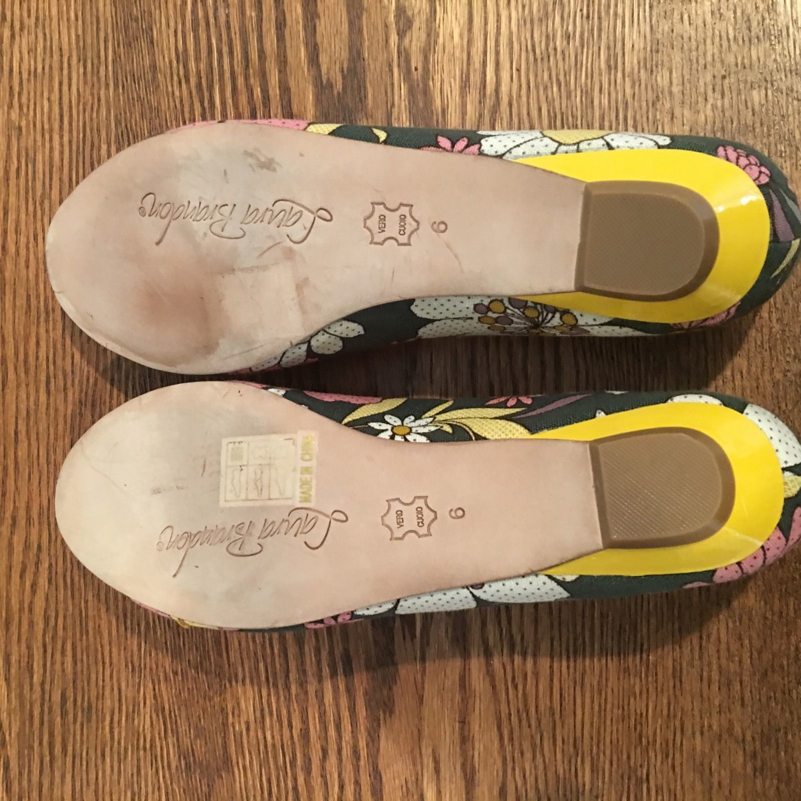 Anthropologie Shoes Laura Brandon Daisy Ballerinas Sz 6 Canvas Flats Floral EUC