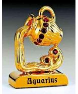 Aquarius Zodiac 24k Gold Plated Swarovski Crystal Jeweled Zodiac - $14.85