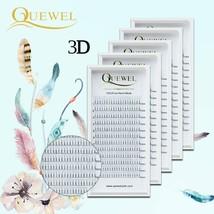 Quewel® 3D Premade Volume Fans Eyelash Extension Short Stem C/D Curl Lashes - €34,58 EUR