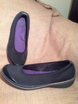 "Easy Spirit E360 ""Mediana"" 9M Slip On Loafers Wedge Women's BLACK/ Silver Shoes - $29.69"