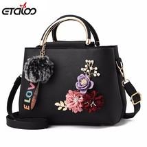 Flowers Shell Women's Tote Leather Clutch Bag Small Ladies Handbags Bran... - $24.66