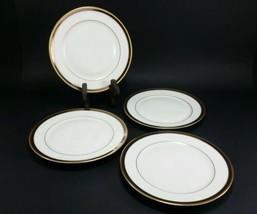 """set/4 vintage bread butter plate 6.5"""" Heinrich Co Bavaria Germany SELB gold - $14.29"""