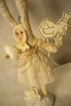 Vintage Inspired Spun Cotton, Clothed Bunny no. 162 image 3