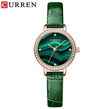 CURREN  ed Rhinestone Wristwatches Womens Charming Wrist with Thin Watch Leahter - $53.09