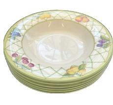Mikasa Optima Fruit Rapture Super Strong China Soup Bowls Lemons Cherrie... - $42.03