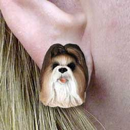 Primary image for Conversation Concepts Shih Tzu Tan Earrings Post