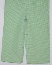Ellie O Gingham Full Lined Longall Size 18 Months Color Green image 4