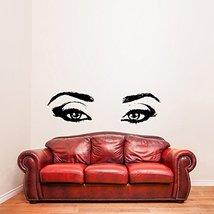 ( 35'' x 10'') Vinyl Wall Decal Realistic Womens Eyes Silhouette / Sexy Teens Fa - $21.01