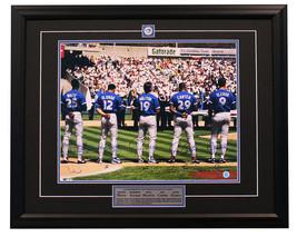 1993 Blue Jays Signed WAMCO White Alomar Molitor Carter Olerud 25x31 Frame - $530.00