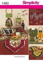 Simplicity 1483 ~ Casserole Cover, Wine Tote, Bucket Cover, Potatoe Bag + Sewing - $13.48