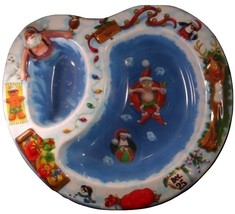Santa Claus Christmas Chip Dip Tray - Party Supplies - $2.79