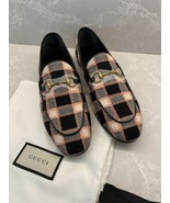 Gucci New Jordaan Black/Pink Fancy Tweed Loafer Shoe Flat 37.5 - $665.78