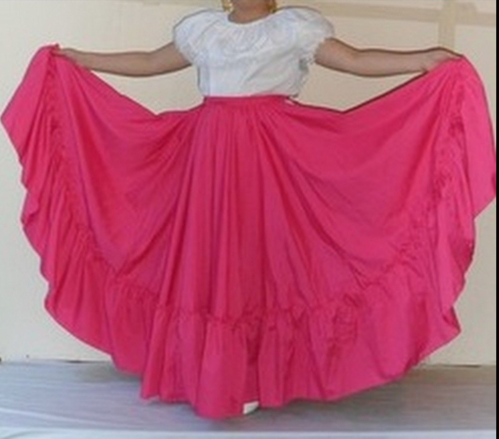 Primary image for Womens Full Super Wide Skirt One Size Waist For Folkloric Dances New Handmade