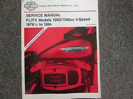 1978 1979 1980 1981 1982 1983 1984 Harley Davidson FL FX Service Shop Manual  - $197.95