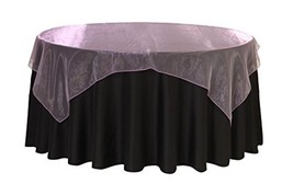 Your Chair Covers - 90 Inch Square Organza Table Overlay Lavender, Light... - $10.42