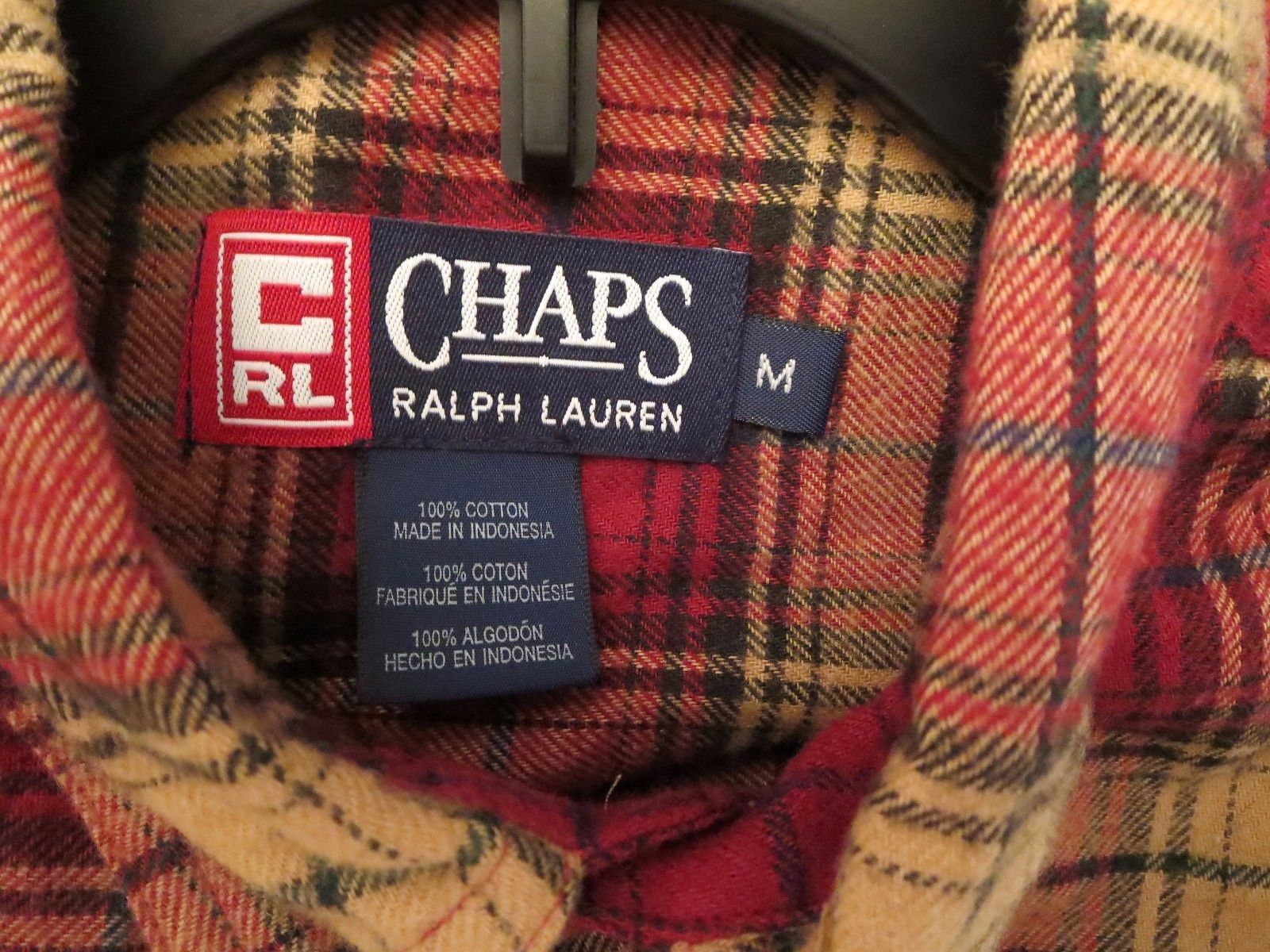 Chaps Ralph Lauren 50% OFF Men's Size M Flannel Shirt L/S Oxford New With Tags