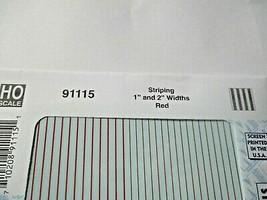 """Microscale Decals Stock # 91115 Striping 1"""" and 2"""" Widths Red image 2"""