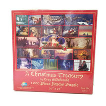 "Christmas Treasury Greg Hildebrandt 1000 Piece Puzzle  20x27"" New - $25.00"