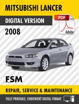 2008 MITSUBISHI LANCER FACTORY SERVICE REPAIR MANUAL / WORKSHOP MANUAL - $13.86