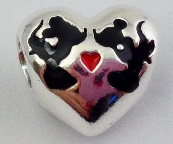67414549a S l1600. S l1600. Previous. Authentic Pandora Disney Minnie & Mickey Kiss  Charm, 925 Silver 791443ENMX New