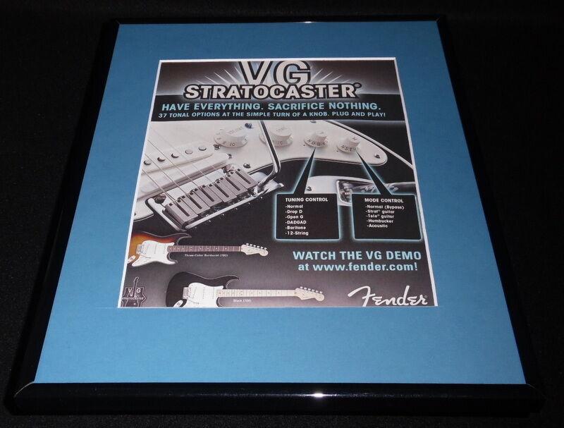2007 Fender Stratocaster Guitar Framed 11x14 ORIGINAL Advertisement - $32.36