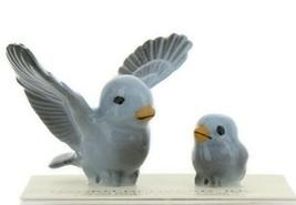 Hagen Renaker Miniature Bluebird Tweety Pa and Chick Ceramic Figurine Set of 2 image 1