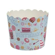 Simcha Collection Blue Birthday Cupcake Wrappers Large, Case of 384 - $83.99