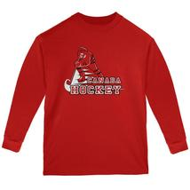 Fast Hockey Player Country Canada Youth Long Sleeve T Shirt - $20.95