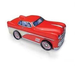 Classic Red Sports Car Silver Crane Decorative Tin 10 inch Retired - £20.39 GBP
