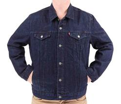 Levi's Men's Premium Cotton Button Up Denim Jeans Jacket Dark Blue 723350039 image 5