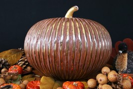 Pottery Barn Grout & Mercury Glass Pumpkin – Nib – Strike Up The Band Of Colors! - $119.95