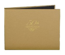Hortense B. Hewitt Wedding Accessories 50th Anniversary Gold Guest Book - $20.34