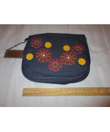 Gold Coast Denim Purse or Handbag Floral Design - $18.00