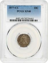 1877-CC 10c PCGS XF40 - Popular Carson City Dime - Liberty Seated Dime - $160.05