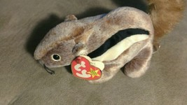TY Beanie Baby CHIPPER THE SQUIRREL PLUSH STUFFED ANIMAL - $4.94