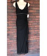 Betsy & Adam Size 6 Dress Long Evening Gown Black Formal Rhinestones Pad... - $74.25