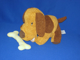 "FOLKMANIS DOGGIE WITH BONE DOG PUPPY HAND PUPPET RATTLE PLUSH TOY 9"" - $14.85"