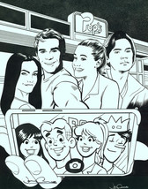 Josh Adams Signed Archie Comic Selfie Art Print Riverdale Betty Veronica Jughead - $29.69