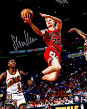 Steve Kerr signed Chicago Bulls Lay Up Action 8x10 Photo- Schwartz Hologram - $42.95