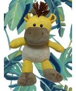 Spark Create Imagine Giraffe Plush Rattle Yellow Knit Stuffed Animal Toy... - $14.84