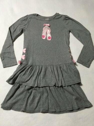 Gymboree NWT Fancy Dalmation  Ruffle Gem Knit Tier Black White Dress Size 4