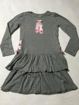 Gymboree Glamour Ballerina 10 Gray Tiered Ruffle Pink Ballet Shoe Dress - $19.99